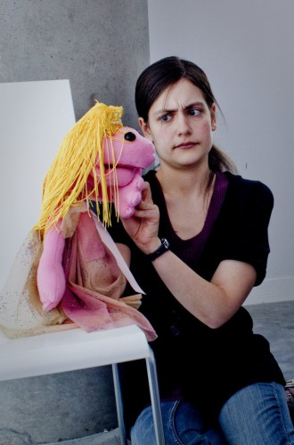 Nicola McEldowney and puppet