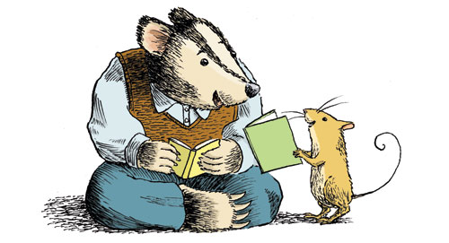 Badger and Mouse Reading