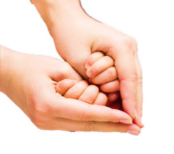 parent and child hands