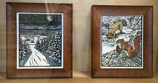 Woodblock prints by Blue Butterfield
