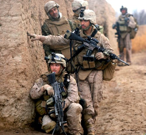 Marines on patrol