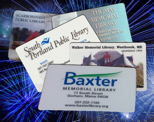 Library cards from South Portland, Gorham, Westbrook, Scarborough, and Cape Elizabeth