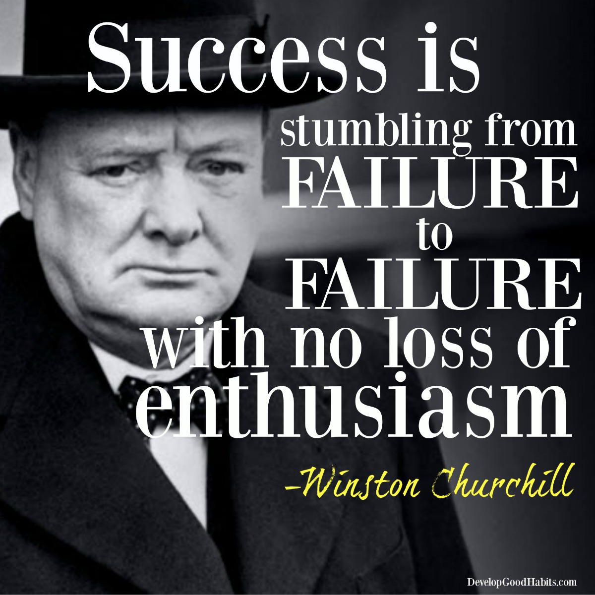 Inspirational Quotes About Failure: Churchill-success-quotes