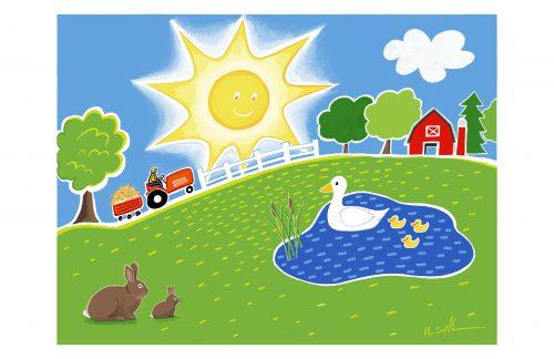 Farm Scence by Marie Ahearn