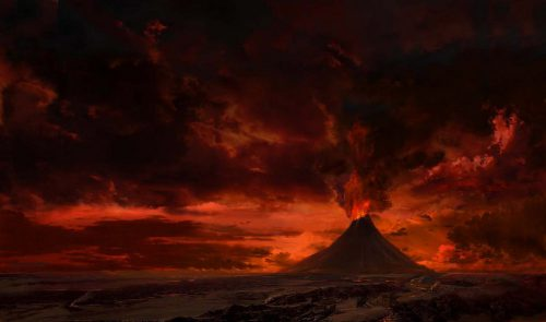 Mount Doom from Lord of the Rings