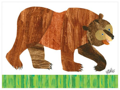 brown bear by Eric Carle