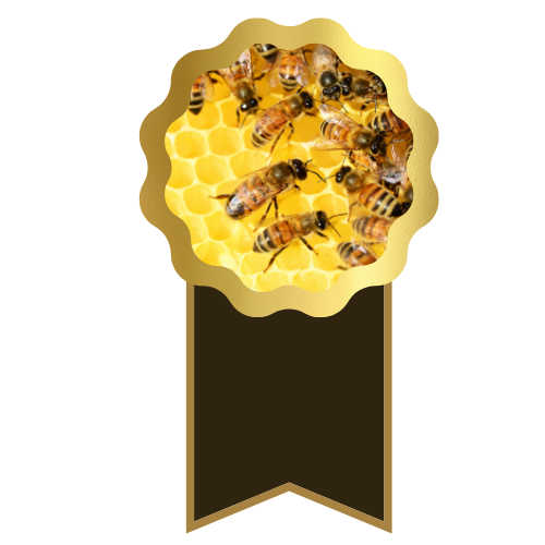 Bees on award ribbon