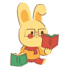 bunny with book