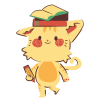 cat with books on its  head